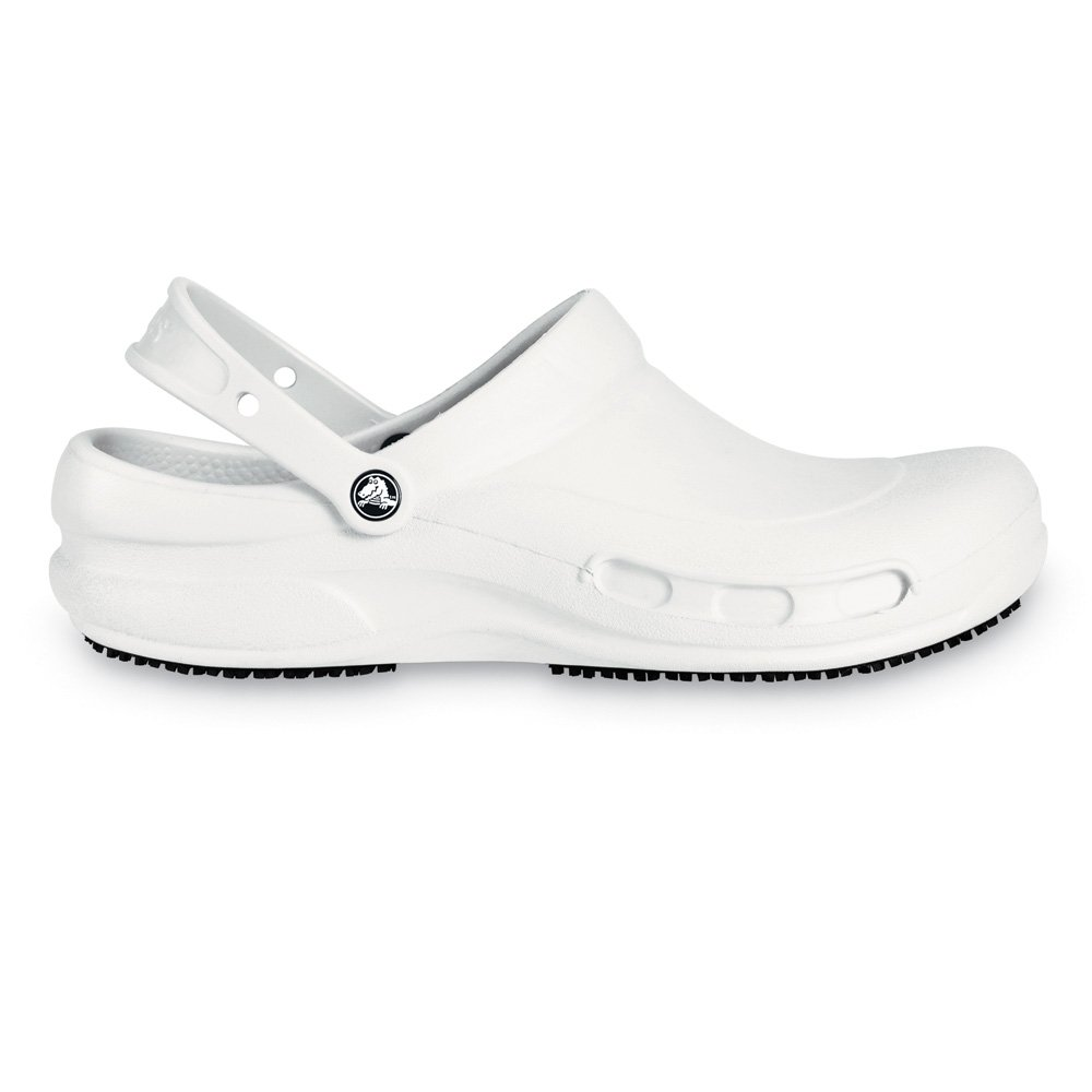 Crocs Bistro White Enclosed Croslite Work Clog With Crocs ...