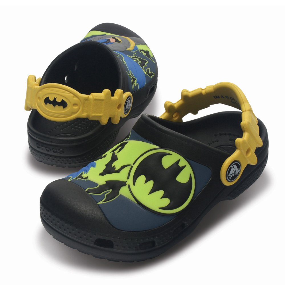 Crocs Kids Batman Custom Clog Black The Caped Crusader On