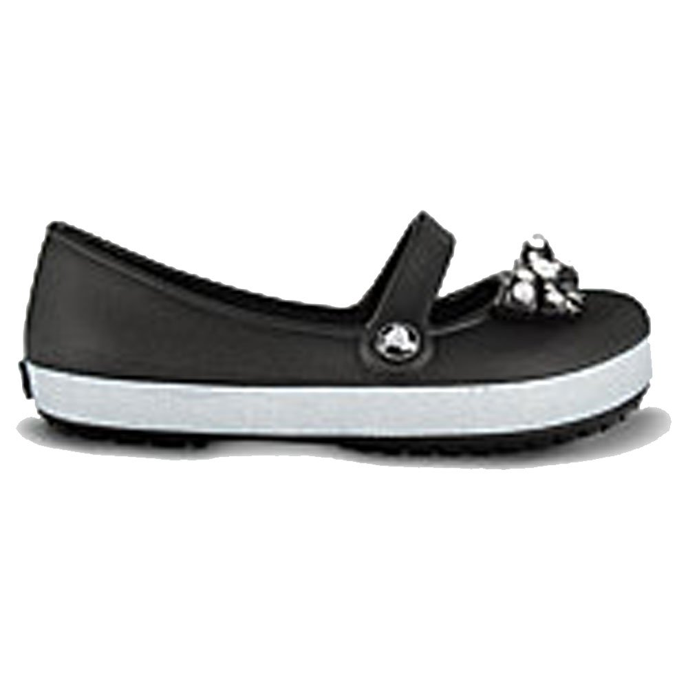 Crocs-Girls-Genna-CrocBling-Black-Slip-on-ballet-flat-style-shoe