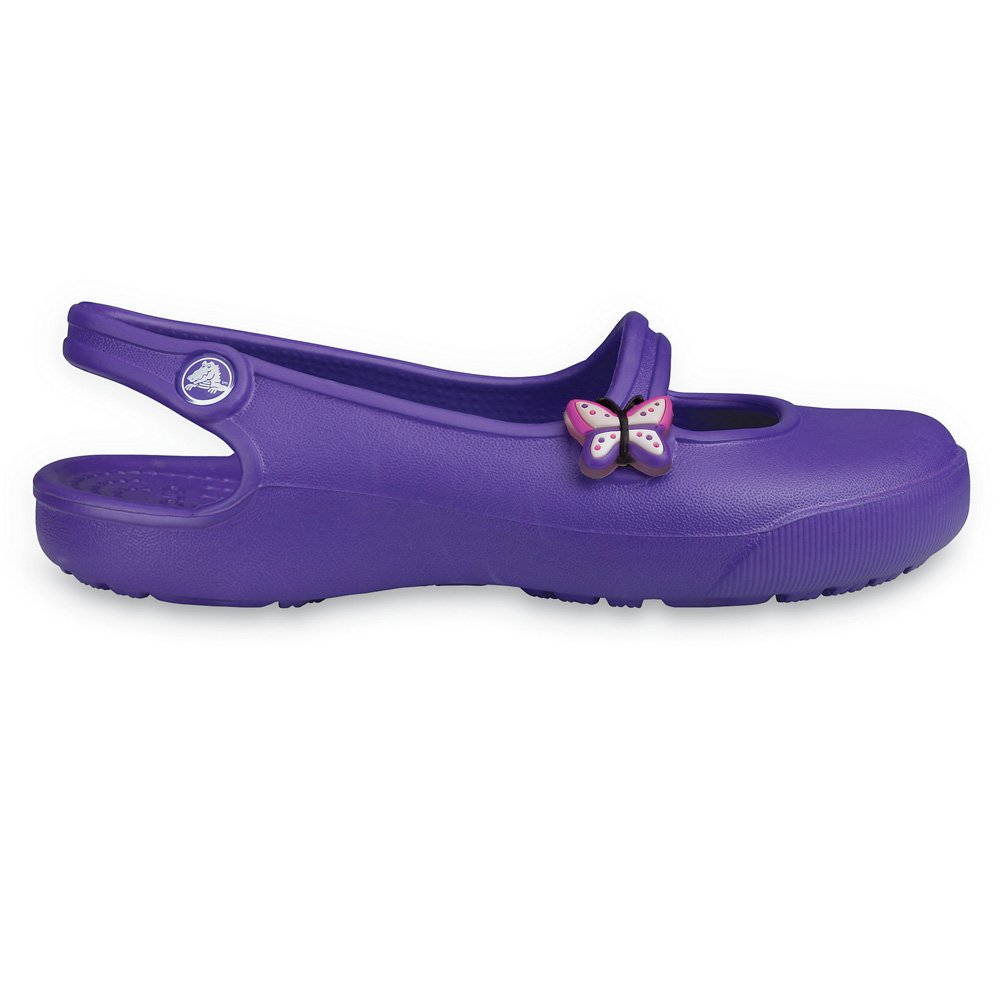 Crocs Girls Gabby Ultraviolet, Slingback ballet flat style ...