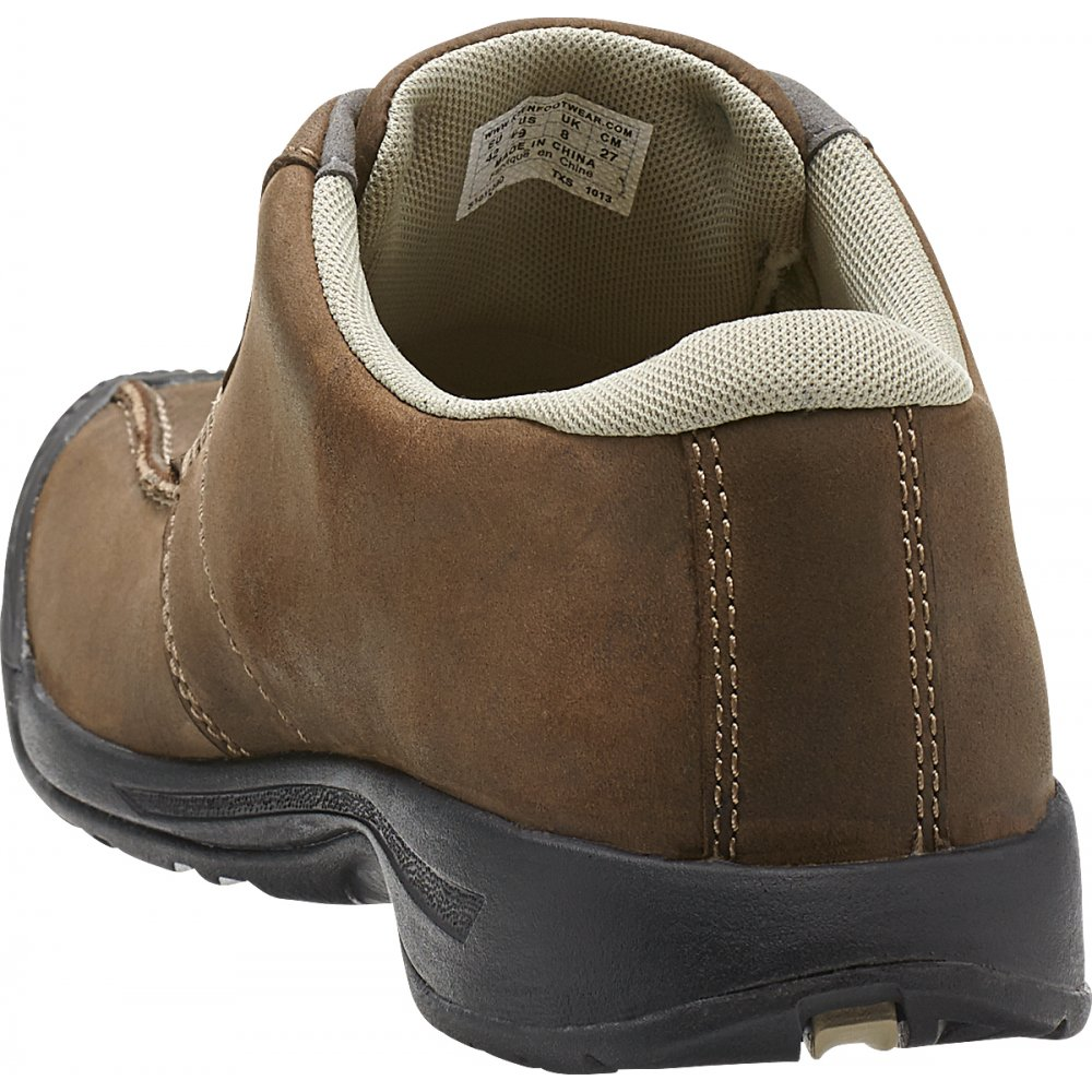 keen mens reisen low cascade brown leather shoe with