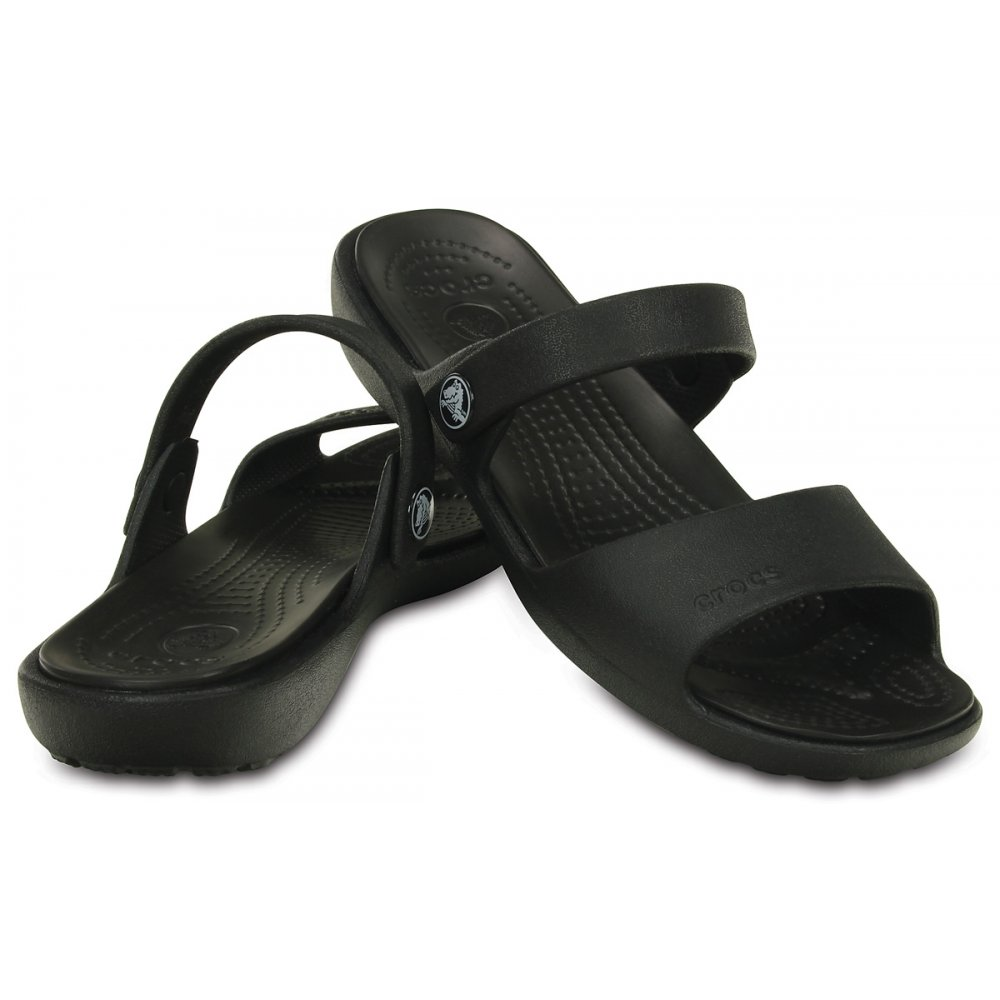 Crocs Crocs Coretta Sandal Black Two Strap Comfort Sandal