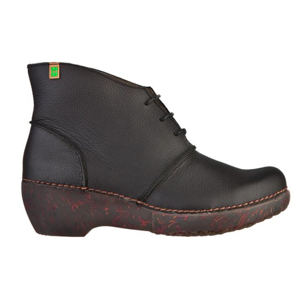 el naturalista nc75 boot black ankle boot with a wedge