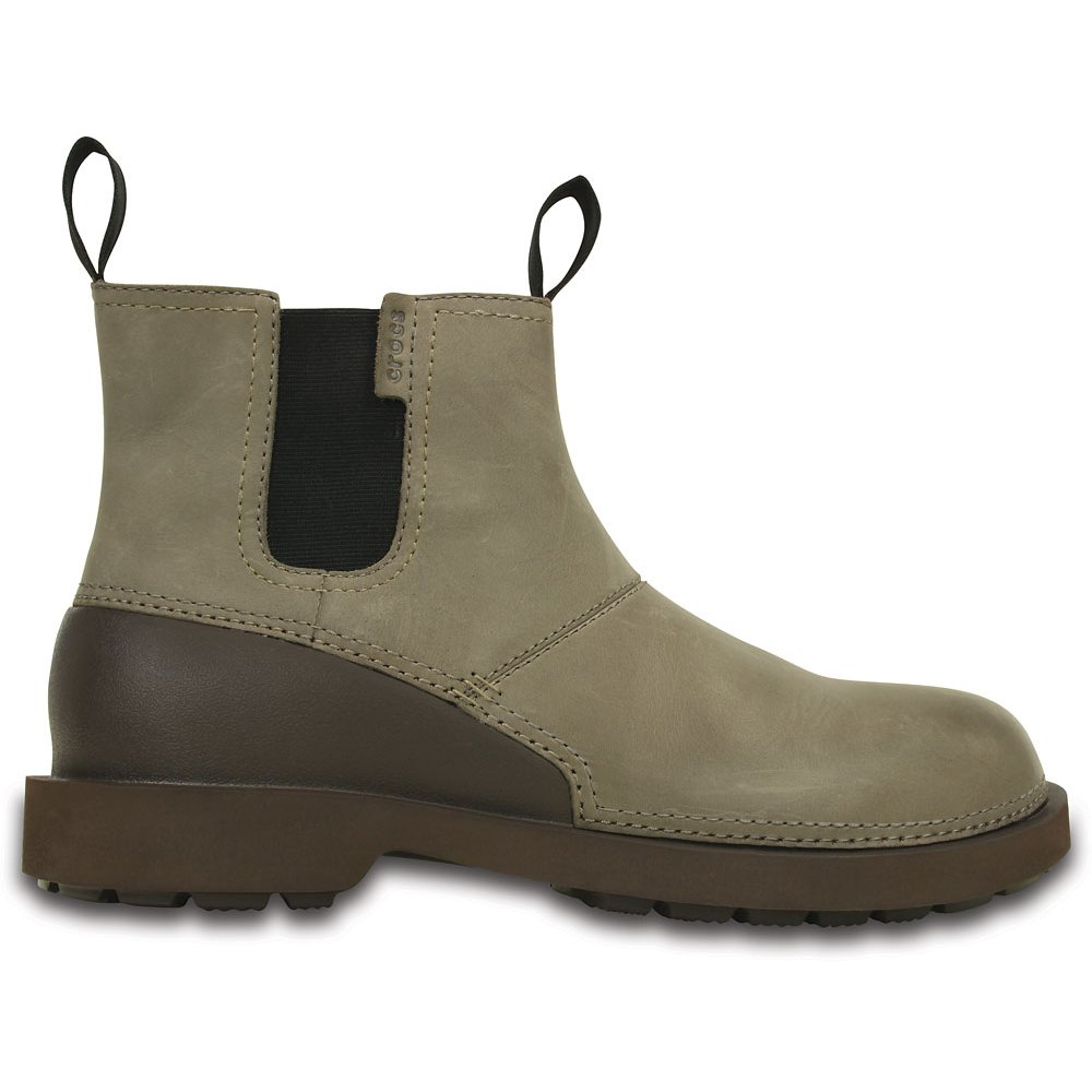 crocs breck boot walnut espresso mens lightweight leather