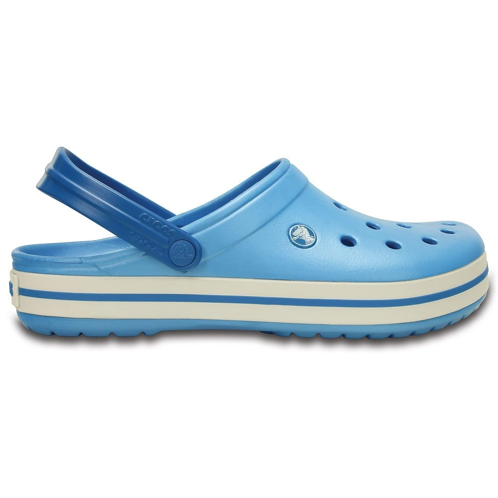 crocs crocband shoe bluebell white all the comfort of a