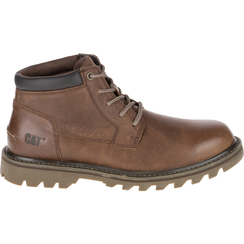 cat mens doubleday brown leather lace up boot cat from