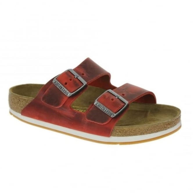 Birkenstock Arizona 57471 Oiled Leather Red, oiled leather classic sandal