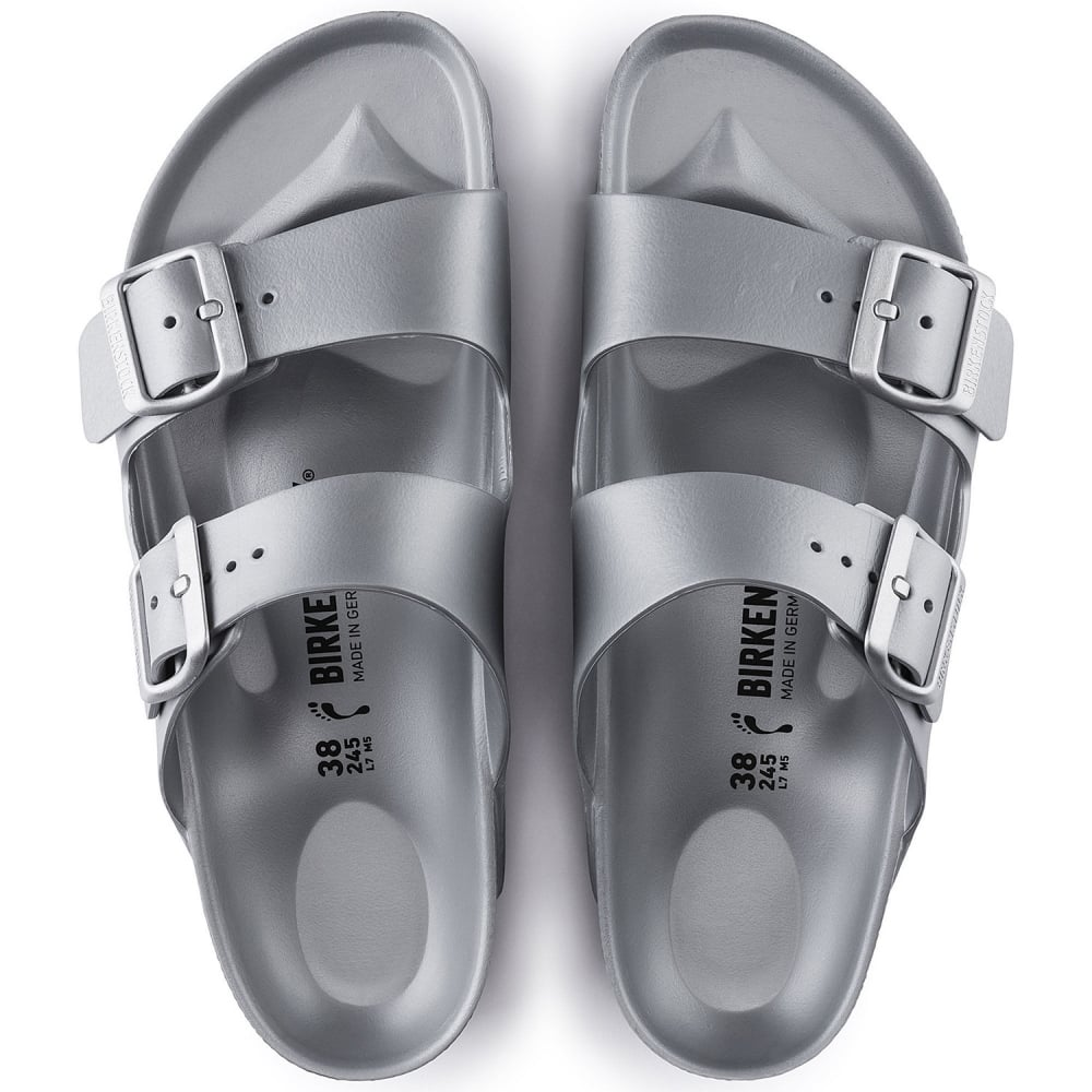 e7edc5310c97 Birkenstock Arizona E V A 1003491 Silver NARROW - Women from Jellyegg UK