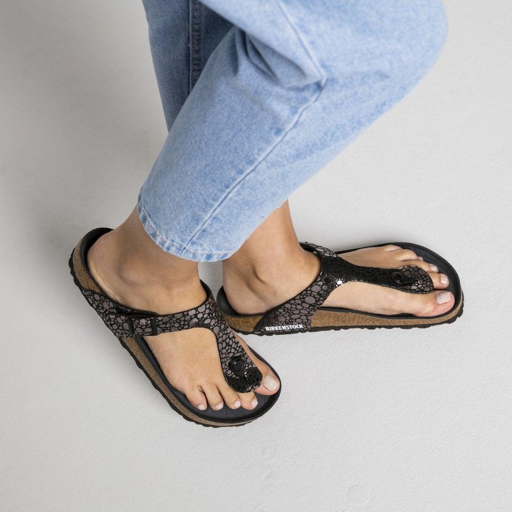 Birkenstock Gizeh BF Sandal 1008865 Metallic Stones Black REGULAR