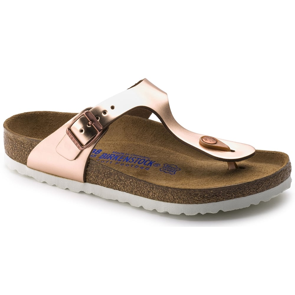 536c9a4c88e Regular Smooth Leather Soft Footbed. Gizeh SL SF 1005048 Metallic Copper  REGULAR. Gizeh SL SF 1005048 Metallic Copper REGULAR