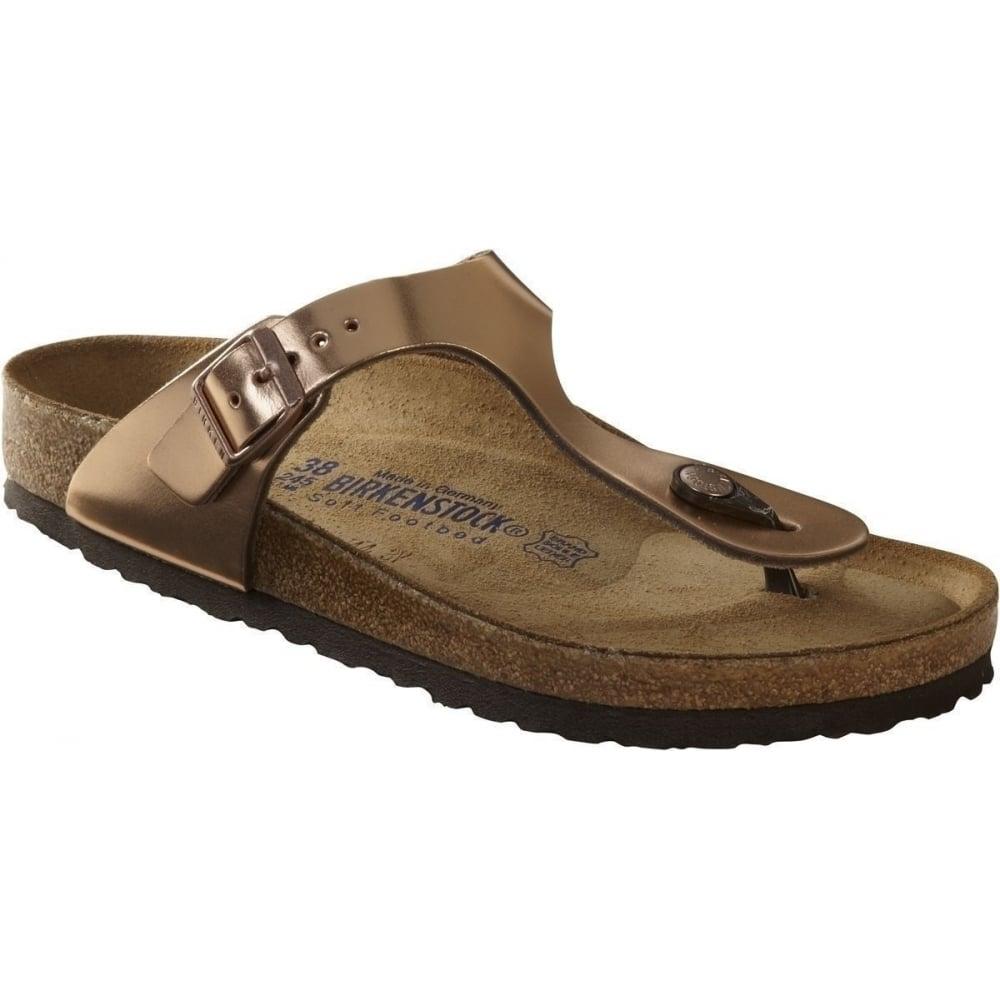 5ff1a093dbf Regular Smooth Leather Soft Footbed. Gizeh SL SF 745601 Metallic Copper  REGULAR