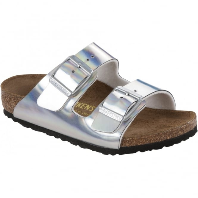 Birkenstock Kids Arizona Mirror Silver 553823, NARROW