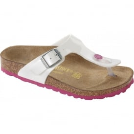 Kids Gizeh Patent White/Pink 345083, NARROW