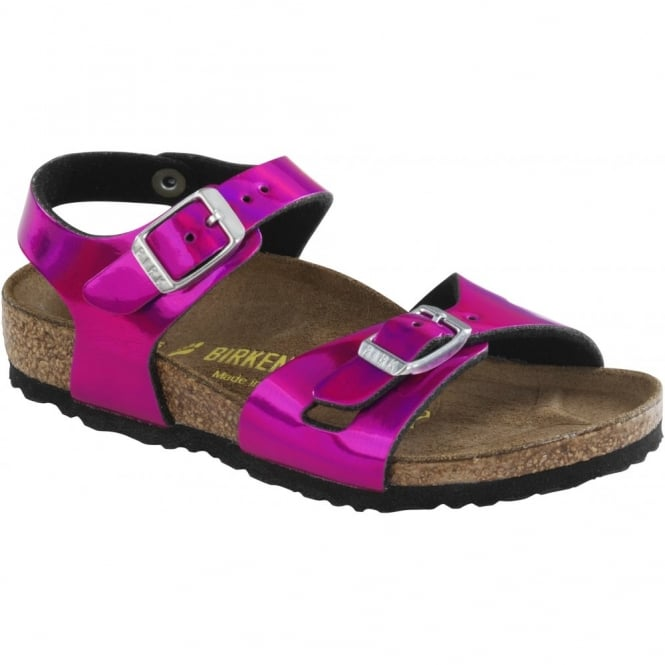 Birkenstock Kids Rio Mirror Pink 731873, childrens birkie sandal NARROW