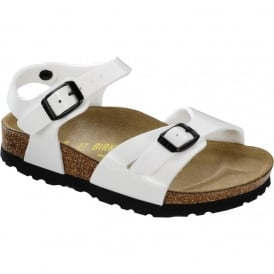 Kids Rio Patent White 231883 NARROW