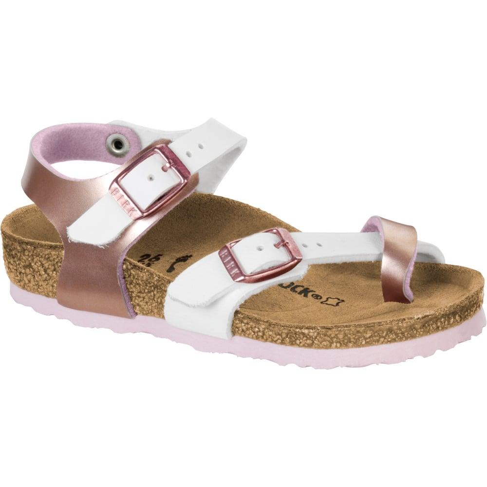 Birkenstock Kids Taormina BF Sandal 1009499 Soft Metallic RoseWhite NARROW