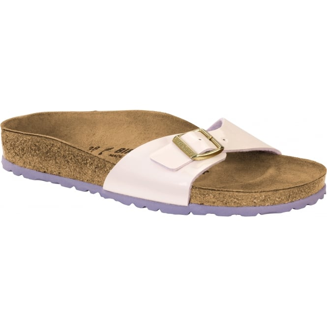 Birkenstock Madrid BF Patent 1008458 Two Tone Cream Pink NARROW