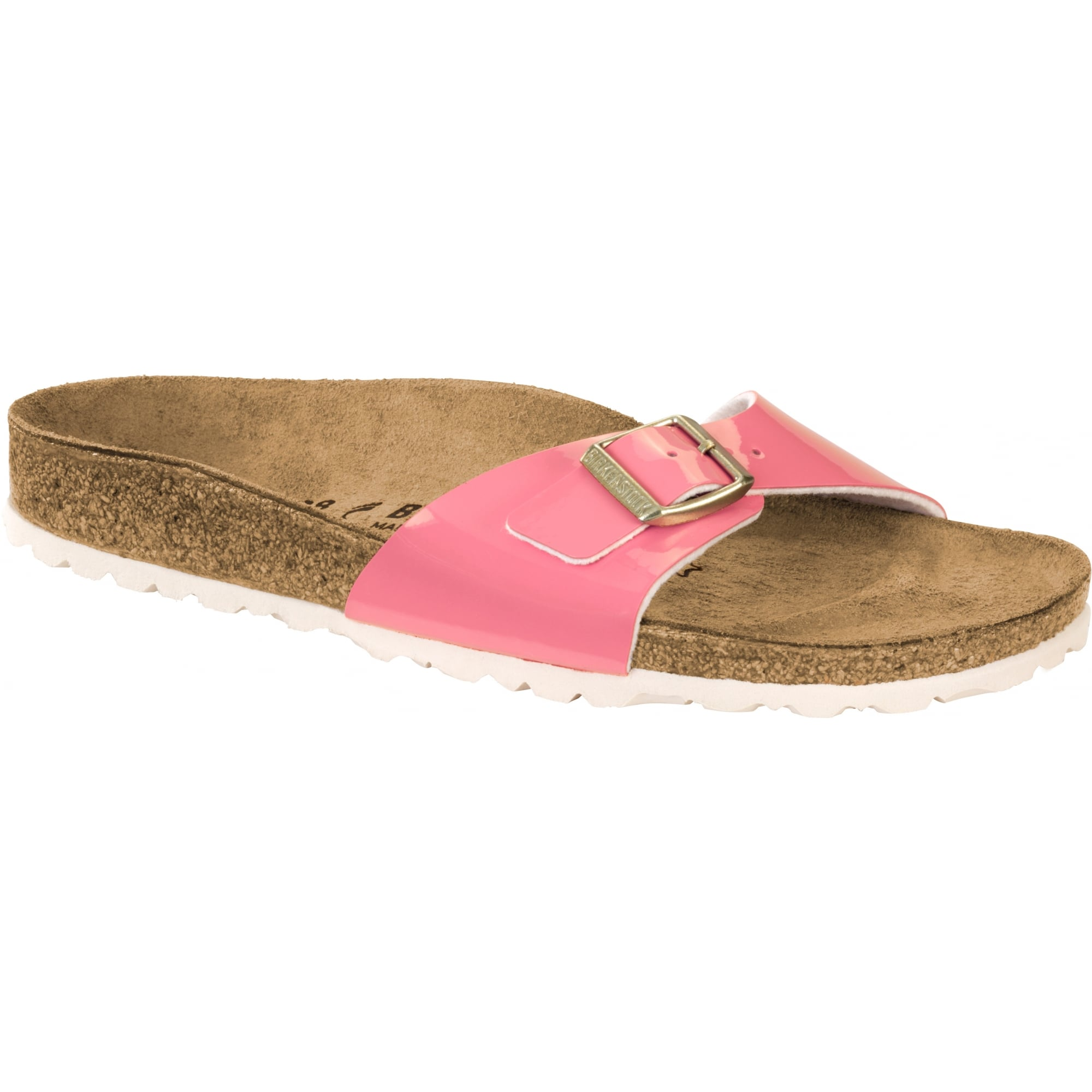 Birkenstock Madrid BF Sandal Patent 1008494 Two Tone Cream Coral NARROW