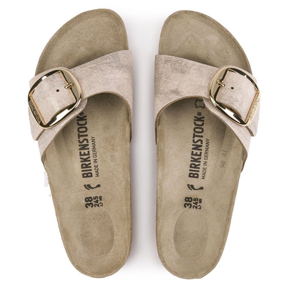 sports shoes d4a0c 727a1 Madrid BIG BUCKLE NL Sandal 1012888 Washed Metallic Rose Gold NARROW