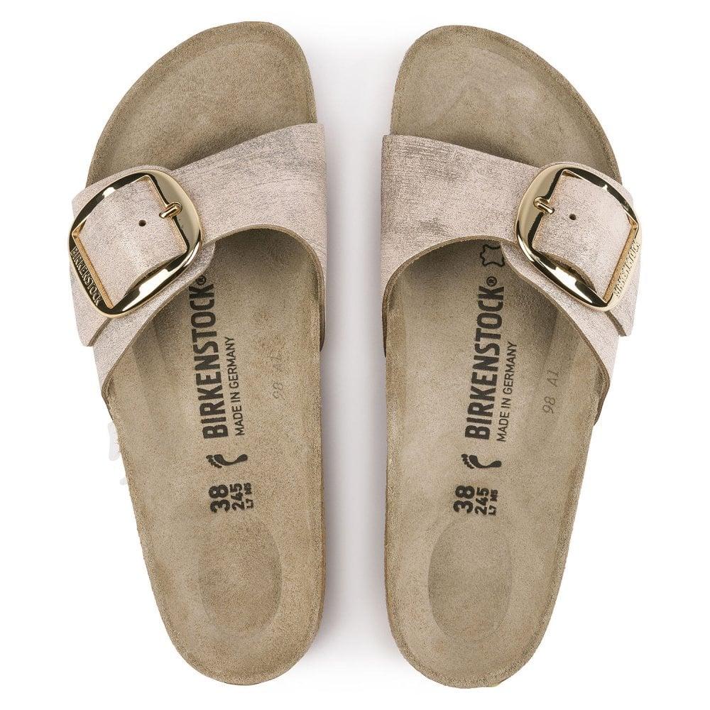 Birkenstock Sandals Madrid Big Buckle Washed Rosegold