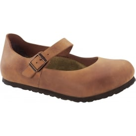 Mantova Antique Brown 1004603, Soft and supple leather mary jane NARROW