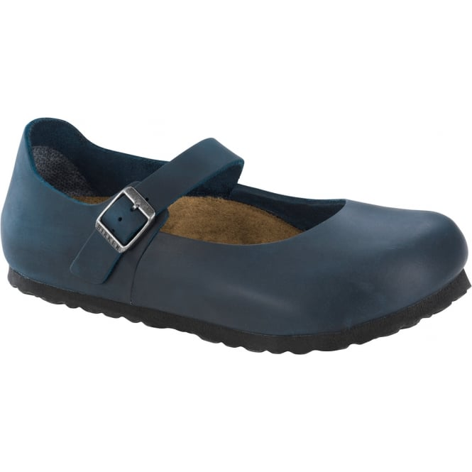 Birkenstock Mantova Insignia Blue 1004604, Soft and supple leather mary jane NARROW