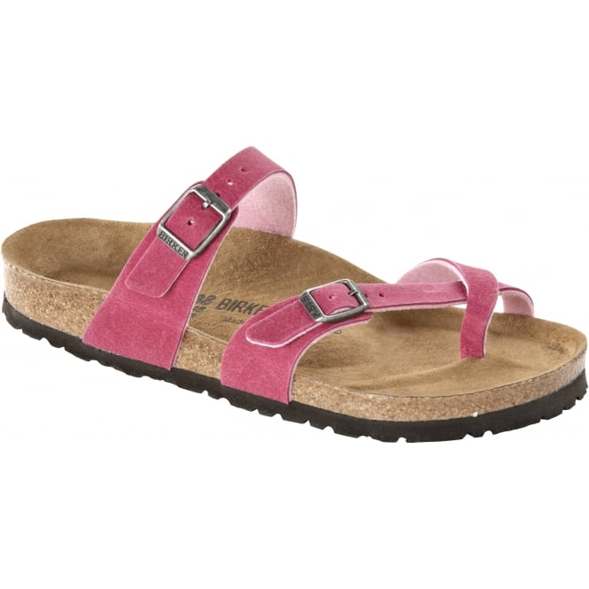 Birkenstock Mayari 371371 MF Pink Regular, Cross-strap, toe loop sandal with an adjustable strap REGULAR