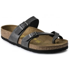 Mayari BF Pull up Anthracite Grey 1005023 REG, Cross-strap, toe loop sandal with an adjustable strap