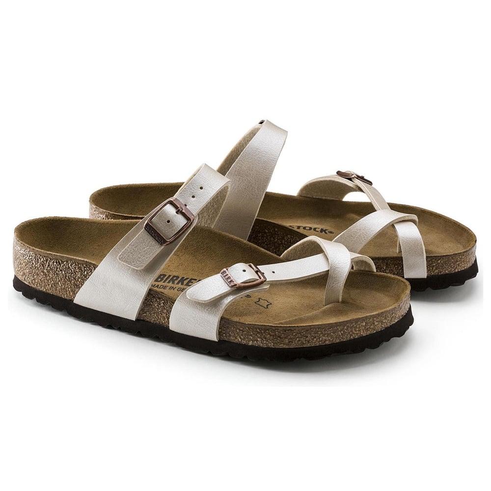 Birkenstock Mayari BF Sandal 71661 Graceful Pearl White REGULAR