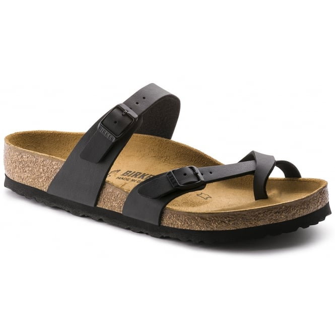 Birkenstock Mayari Black 0071791 REG, Cross-strap, toe loop sandal with an adjustable strap
