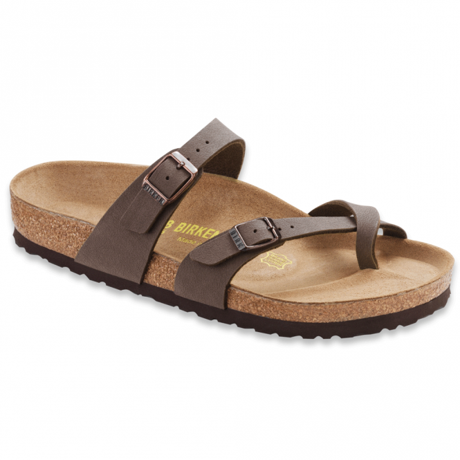 Birkenstock Mayari Nubuck Mocca 071061, Cross-strap, toe loop sandal with an adjustable strap