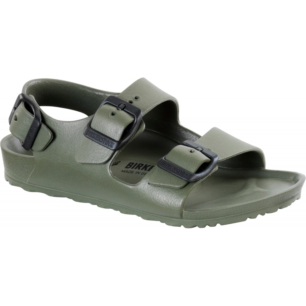 00d7b800fbd8 Birkenstock Milano E V A 1009354 Khaki NARROW - Kids from Jellyegg UK