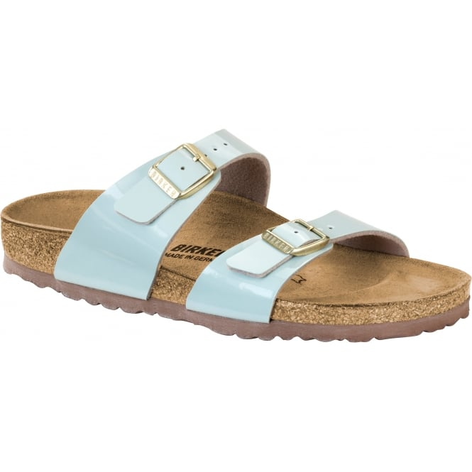 Birkenstock Sydney BF Patent 1008546 Two Tone Water Cream NARROW