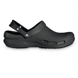 Bistro Black, Enclosed croslite work clog with Crocs Lock slip resistant soles
