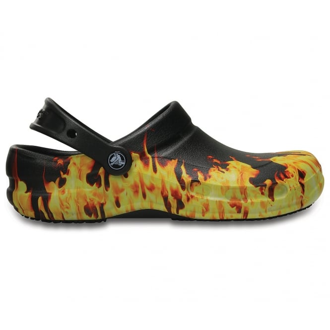 Crocs Bistro Flames, Enclosed croslite work clog with Lock slip resistant soles