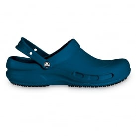 Bistro Navy, Enclosed croslite work clog with Crocs Lock slip resistant soles