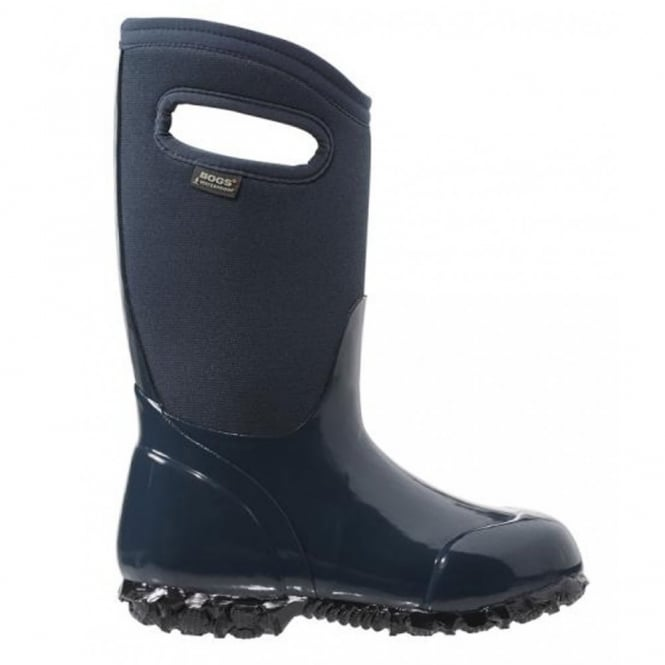 Bogs 71847 Durham Solid Navy, 100% waterproof wellington keeping you dry with every stomp!