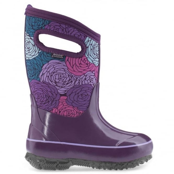 Bogs 71993 Classic Rosey Purple Multi, 100% waterproof wellington boots