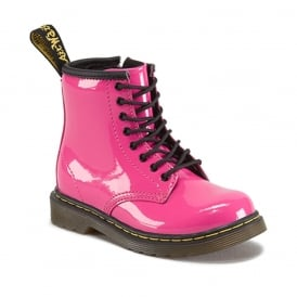 Brooklee Boot Pink Patent, the classic Dr Martens for tiny feet