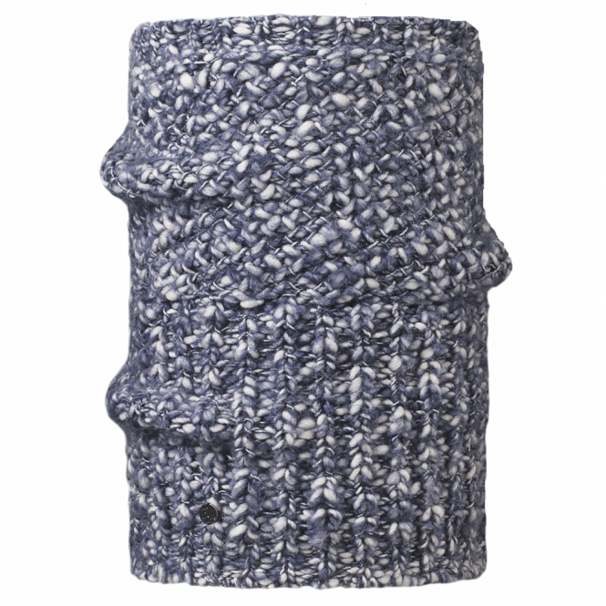 Buff Collar Blend Tay Indigo, Cunky knitted neckwarmer