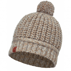 Dean Knitted Hat Fossil, warm and soft knitted hat