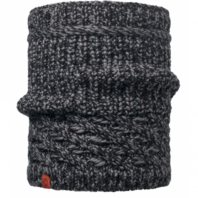 Buff Dean Knitted Neckwarmer Black, warm and soft knitted neckwarmer