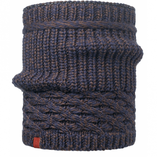 Buff Dean Knitted Neckwarmer Navy, warm and soft knitted hat