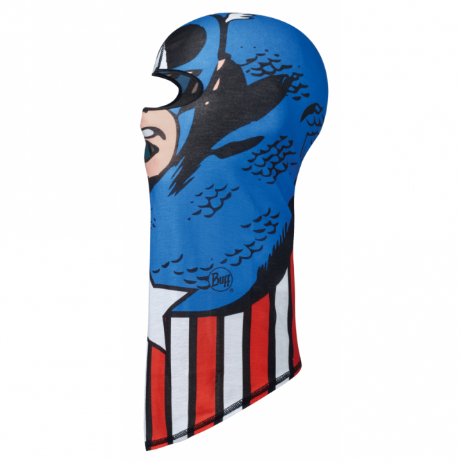 Buff Junior Balaclava Superheroes Captain America Blue, Made from 100% Polyester Microfibre and offers excellent breathability and humidity control