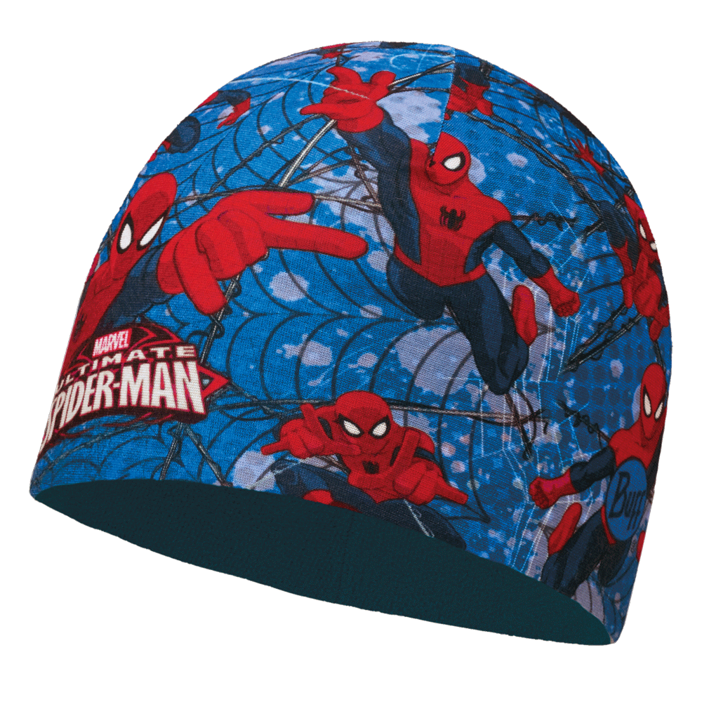 better multiple colors authentic quality Buff Kids Spiderman Microfiber & Polar Fleece Hat Warrior Blue, warm and  soft hat with fleece lining