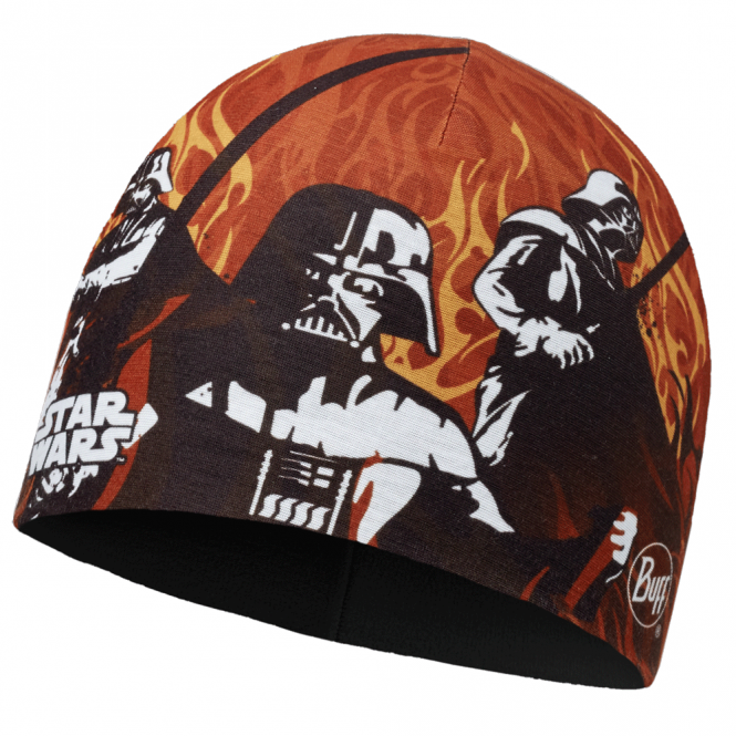 Buff Kids Star Wars Microfiber & Polar Fleece Hat Shadow Flame/Black, warm and soft hat with fleece lining