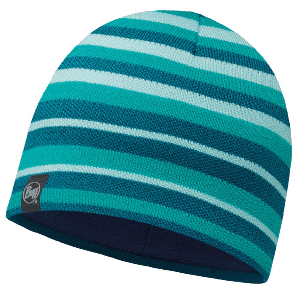815bd708705 Buff Laki Stripes Knitted   Polar Fleece Hat Turquoise Navy