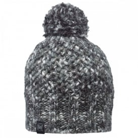 Margo Hat Grey, Multi coloured chunky knitted bobble hat