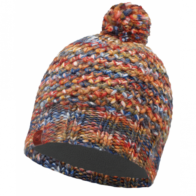 Buff Margo Hat Orange, warm and soft knitted hat