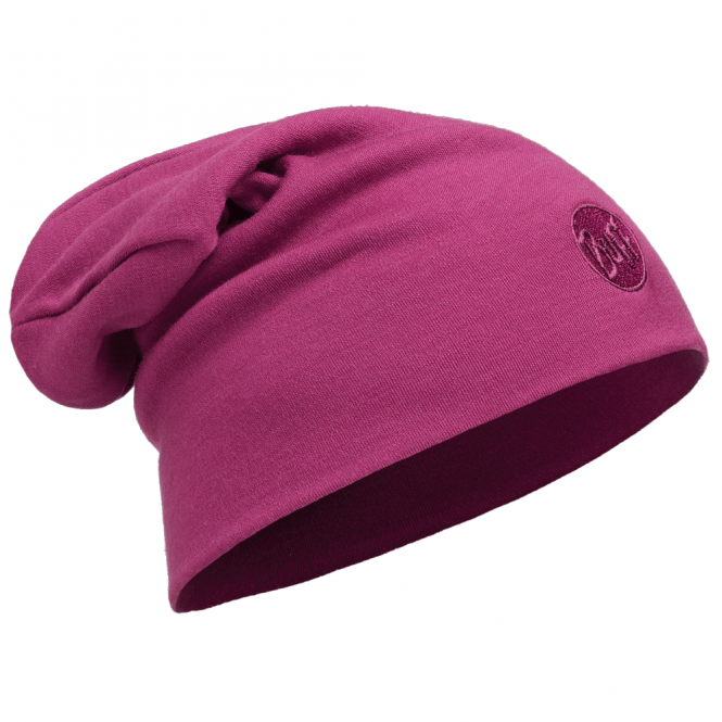 Buff Merino Wool Loose Fit Thermal Hat Pink Cerisse